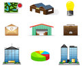 Logistic and estate icon collection set create by vector Stock Image