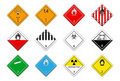 Logistic hazardous signs Stock Photos