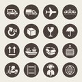 Logistic icon set theme Royalty Free Stock Images