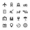 Logistic icon set, vector eps10 Royalty Free Stock Photo
