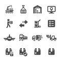 Logistic icon set 3, vector eps10 Royalty Free Stock Photo