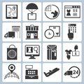 Logistic icons, cargo icons Stock Photography