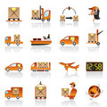 Logistic icons set Royalty Free Stock Photos