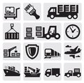 Logistic and shipping icon set Royalty Free Stock Photos