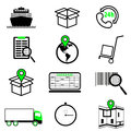 logistic and shipping icon set. Royalty Free Stock Photo