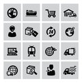 Logistic and shipping icon Royalty Free Stock Photo