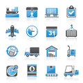 Logistic and shipping icons vector icon set Royalty Free Stock Photos