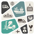 Logistic theme background icons Stock Photo