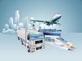 stock image of  Logistics city business concept