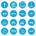 Logistics icon blue