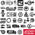 Logistics icons Stock Photography