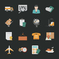 Logistics icons with black background eps vector format Stock Image