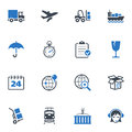 Logistics Icons - Blue Series Stock Images