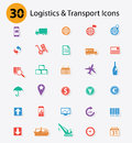 Logistics icons colorful version concept Stock Image