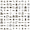 100 Logistics icons set, simple style