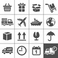 Logistics icons set simplus series logistic delivery vector illustration Royalty Free Stock Photos
