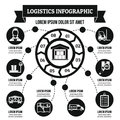 Logistics infographic concept, simple style
