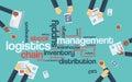 Logistics management business vector background