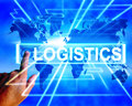 Logistics map displays logistical coordination and international displaying plans Stock Images