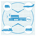 Logistics set of icons vector illustration eps opacity Stock Photography