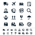 Logistics and shipping icons simple clear sharp easy to resize no transparency effect eps file Stock Photos