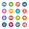 Logistics and Transport Color Icons Royalty Free Stock Photo