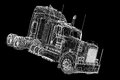 Logistics trucking d model body structure wire model Stock Image
