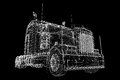 Logistics trucking d model body structure wire model Royalty Free Stock Image