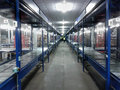 Logistics warehouse conveyor belt Stock Photo