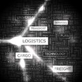 Logistics word cloud illustration tag cloud concept collage Royalty Free Stock Images