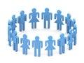 Označení organizace nebo instituce  trojrozměrný tým lidé