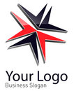 Logo abstract dynamic shape vector