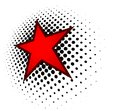 Logo 3D red star Royalty Free Stock Photo