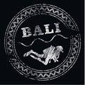 Logo bali duikt centrum misschien Stock Foto's