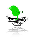 Logo of a bird in the nest Royalty Free Stock Photography