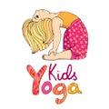 Logo for children yoga.