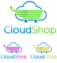 Logo cloud shop print concept symbol illustration Royalty Free Stock Photos