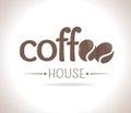 Logo coffee Lizenzfreie Stockfotos