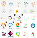 Logo collection geometric business icon set abstract company branding identity designe lements Stock Photo