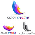 Logo concept designer symbol illustration icon Stock Photo