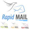 Logo concept e mail company symbol illustration icon Stock Photography