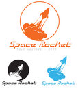 Logo concept rocket symbol illustration icon Royalty Free Stock Photo