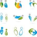 Logo, 3D, Menschen, Paar, Mann...