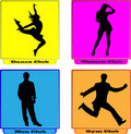 Logo dance women men gym club Royalty Free Stock Images