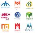 Logo de la lettre M Photos libres de droits