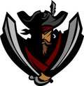 Logo de mascotte de pirate Photographie stock