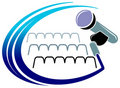 Logo de microphone Photographie stock