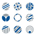 Logo and design elements circular abstracto Fotografía de archivo libre de regalías