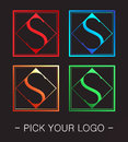 Logo design in four color variations Royalty Free Stock Image