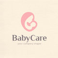 Logo design of motherhood and childbearing